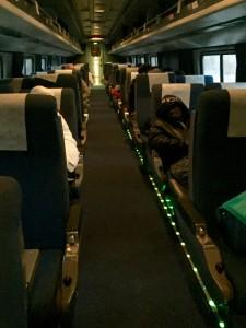 Coach seats on Cardinal train