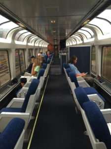 Lounge car on the Capitol Limited