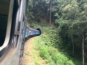 Passenger train tunnel in Sri Lanka