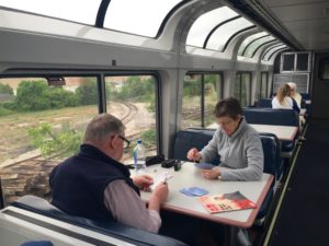 Sightseer lounge car on Amtrak train
