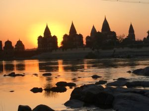 Orchha cenotaphs in northern India